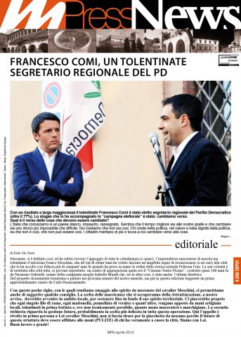Multiradio Press News - Aprile 2014 - prima pagina