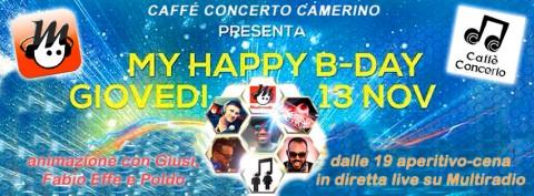 Caffè Concerto Camerino - aperitivo-cena in diretta su Multiradio dalle 19