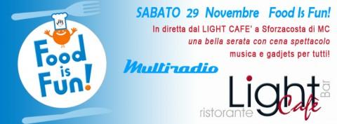 Food is Fun cena spettacolo a Sforzacosta di Macerata - in diretta su Multiradio - 29 nov 2014