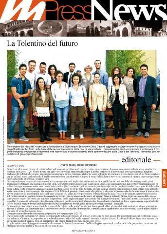 Multiradio Press News - dicembre 2014 - prima pagina