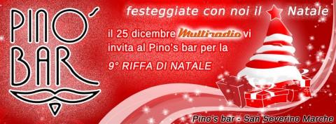 Riffa di Natale al Pino's bar di San Severino Marche in diretta su Multiradio