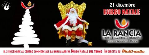 Multiradio in diretta dal centro commerciale La Rancia di Tolentino - babbo Natale - 21 dicembre