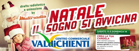 Multiradio in diretta dal centro commerciale Valdichienti domenica 14 dicembre 2014