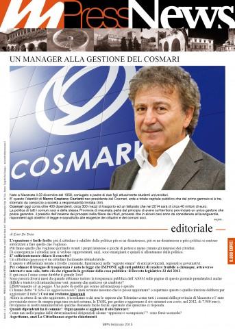Multiradio Press News - febbraio 2015 - prima pagina
