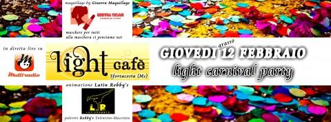 Multiradio - festa giovedì grasso 12 febbraio 2015 al Light Cafè - Sforzacosta di Macerata