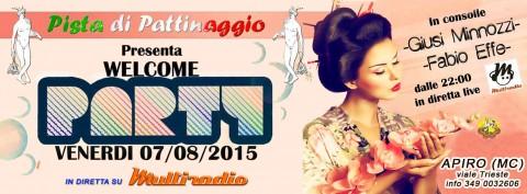 Multiradio Live al Welcome Party di Apiro (Mc) venerdì 7 agosto 2015