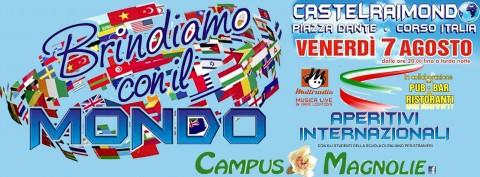 Multiradio Live - aperitivi internazionali a Castelraimondo - venerdì 7 agosto