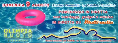 Multiradio Live domenica 9 agosto - piscina Le Calvie Camerino (Mc)
