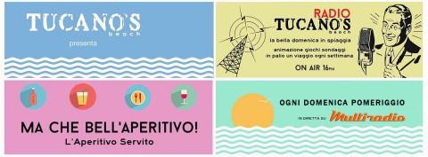 Ogni domenica -radio Tucanos- dalla spiaggia Tucanos di Porto San Giorgio