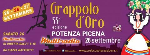 55a edizione del Grappolo D'Oro a Potenza Picena - live su Multiradio sabato notte 26 settembre