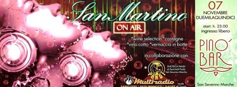 Multiradio Live al Pinos Bar - San Severino Marche - san Martino sabato 7 novembre